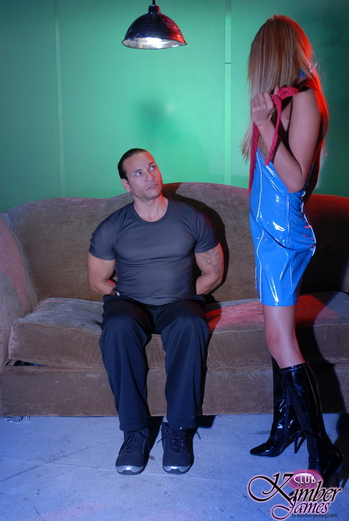 yummy ts kimber james interrogating a dude raw
